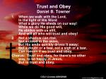 trust and obey daniel b towner