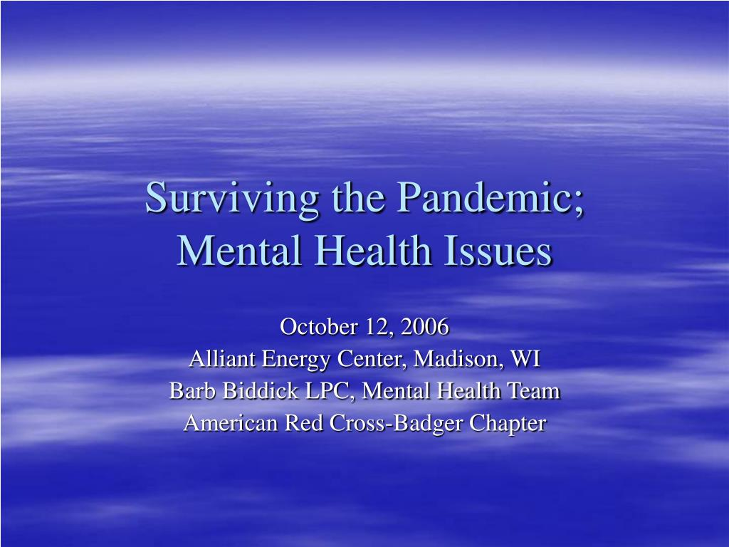 surviving the pandemic mental health issues l.
