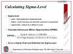 calculating sigma level