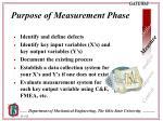 purpose of measurement phase
