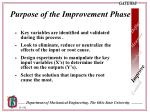 purpose of the improvement phase