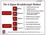 the 6 sigma breakthrough method