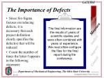 the importance of defects