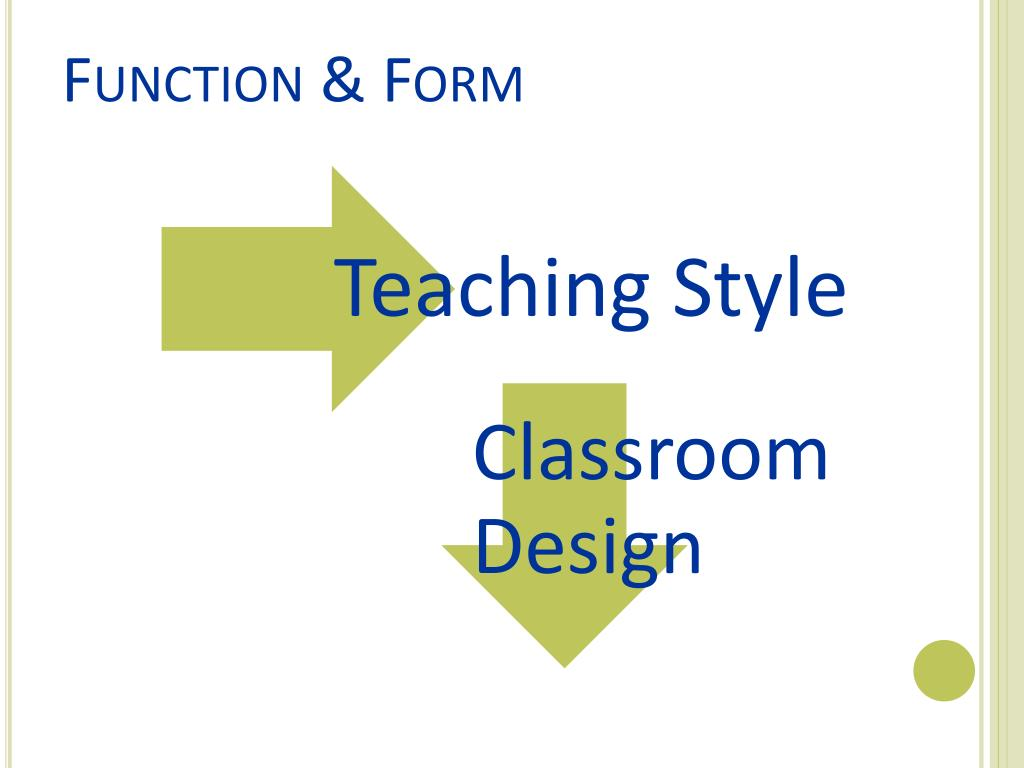 PPT - Function Before Form: Designing the Ideal Library Classroom