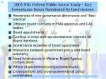 2003 nig federal public sector study key governance issues nominated by interviewees