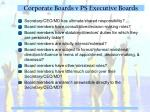 corporate boards v ps executive boards