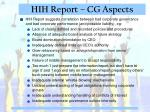 hih report cg aspects