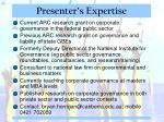 presenter s expertise