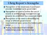 uhrig report s strengths