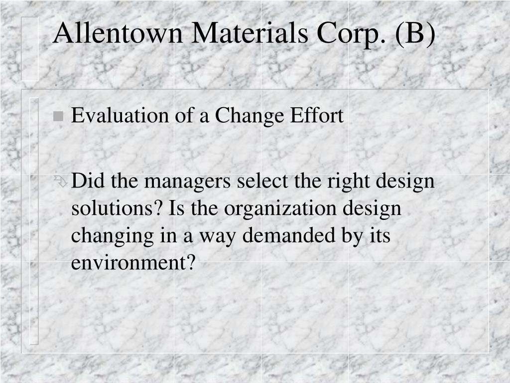 allentown materials corp b l.