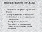 recommendations for change4