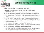 ceo leadership group