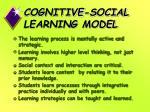 cognitive social learning model