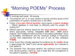 morning poems process