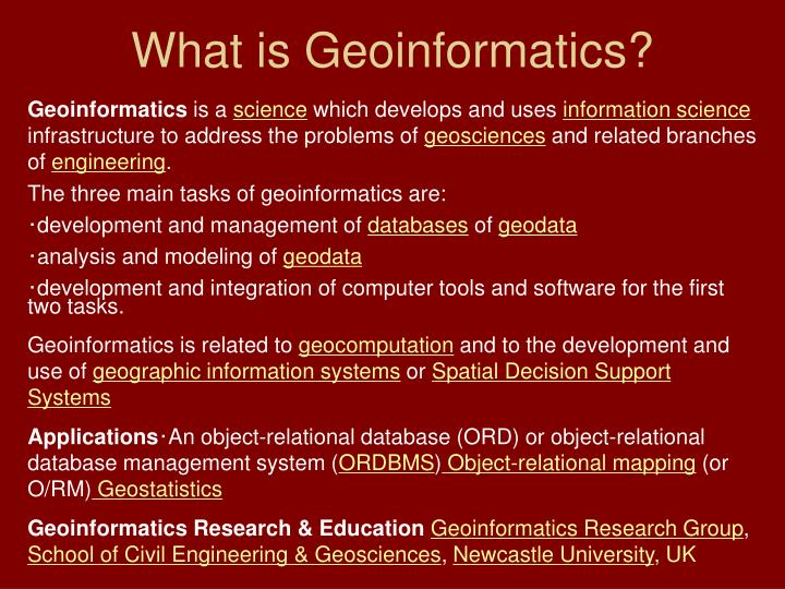 Geoinformatics And Natural Resources Engineering