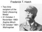 frederick t hatch