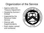organization of the service