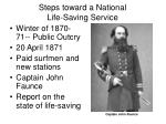 steps toward a national life saving service