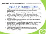 impact in an educational setting