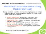 international classification of functioning disability and health