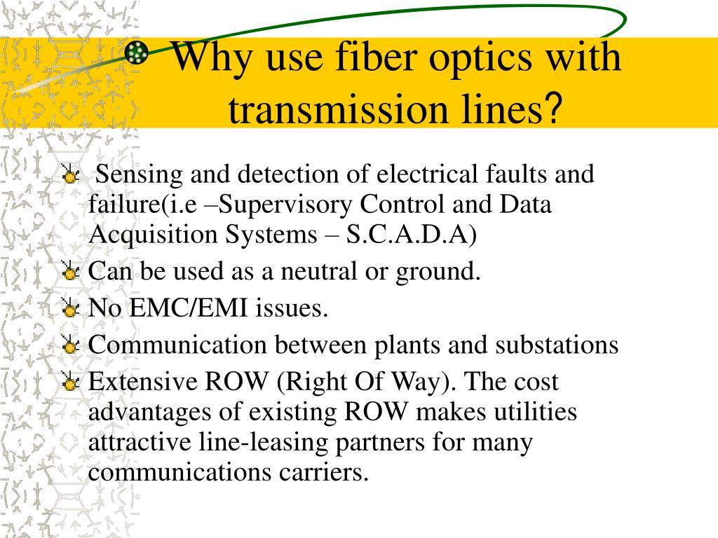 Ppt Fiber Optics In High Voltage Transmission