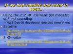 if we had satellite and radar in 1953