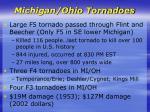 michigan ohio tornadoes