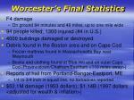 worcester s final statistics