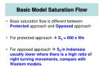 basic model saturation flow22