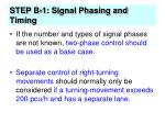 step b 1 signal phasing and timing