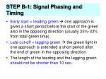 step b 1 signal phasing and timing29