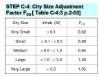 step c 4 city size adjustment factor f cs table c 4 3 p 2 53