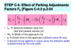 step c 4 effect of parking adjustments factors f p figure c 4 2 p 2 54