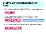 step c 5 flow saturation flow ratio