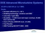 doe advanced microturbine systems