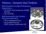 history ceramic gas turbine