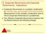 2 corporate governance and corporate performance implications