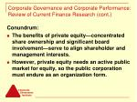 corporate governance and corporate performance review of current finance research cont9