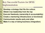 key successful factors for dfss implementation