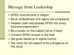 message from leadership