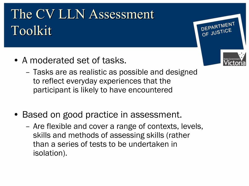 The CV LLN Assessment Toolkit