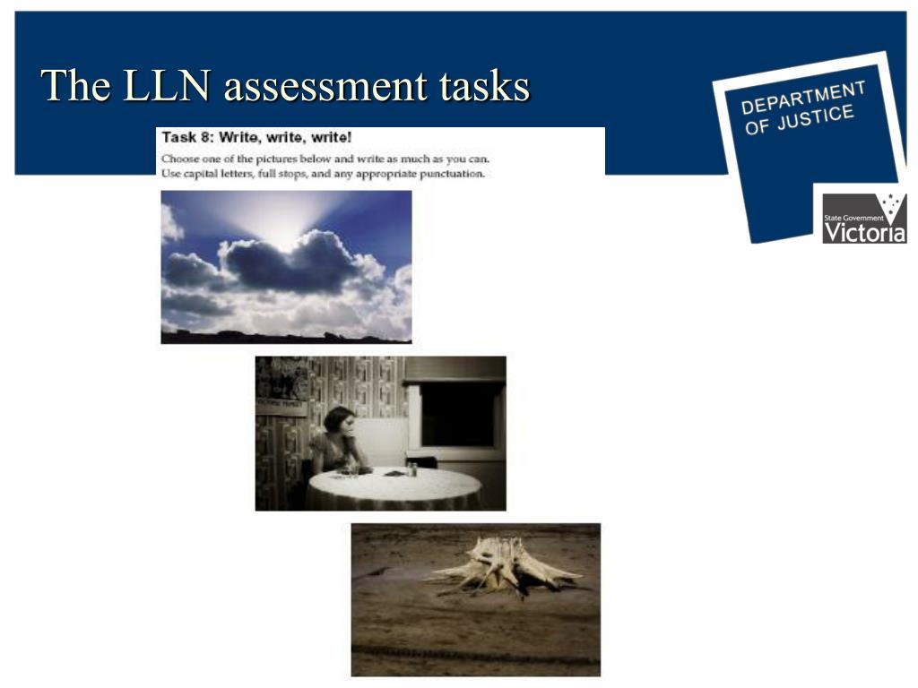 The LLN assessment tasks