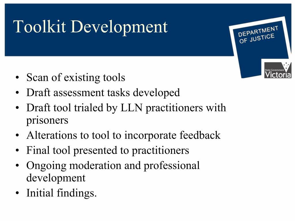 Toolkit Development