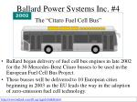 ballard power systems inc 4