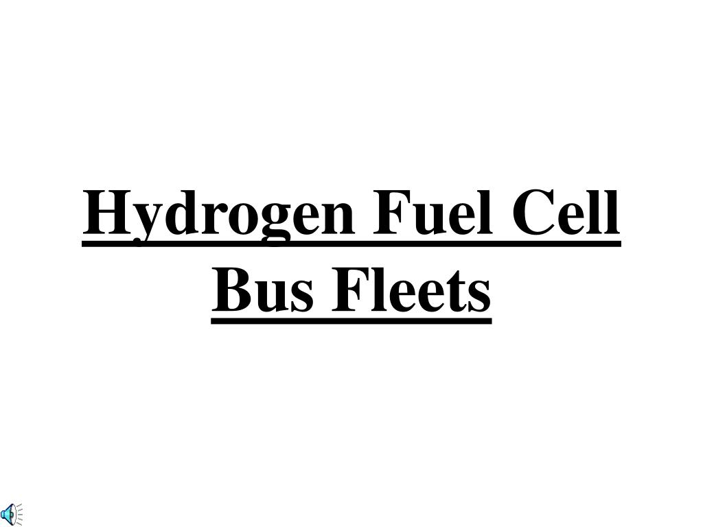 hydrogen fuel cell bus fleets l.