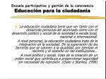 escuela participativa y gesti n de la convivencia educaci n para la ciudadan a