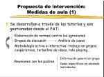 propuesta de intervenci n medidas de aula 1