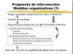propuesta de intervenci n medidas organizativas 1