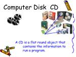 computer disk cd