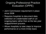 ongoing professional practice evaluation oppe